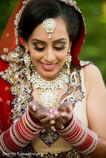 Makeup in Ontario, Canada Hindu-Sikh Fusion Wedding by Devi by KumarImages