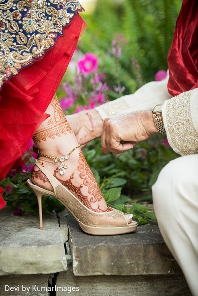 Shoes in Ontario, Canada Hindu-Sikh Fusion Wedding by Devi by KumarImages
