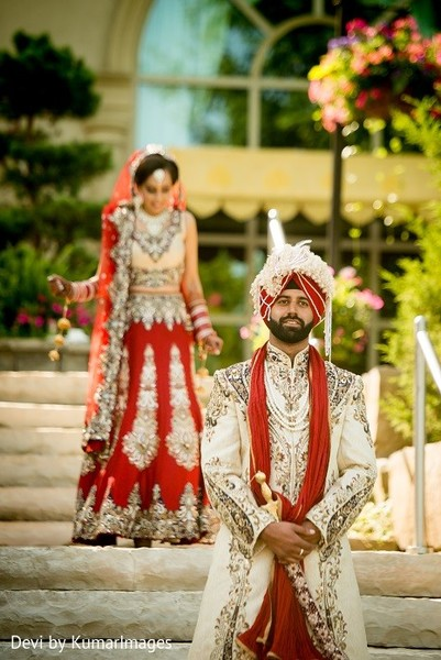 First Look in Ontario, Canada Hindu-Sikh Fusion Wedding by Devi by KumarImages