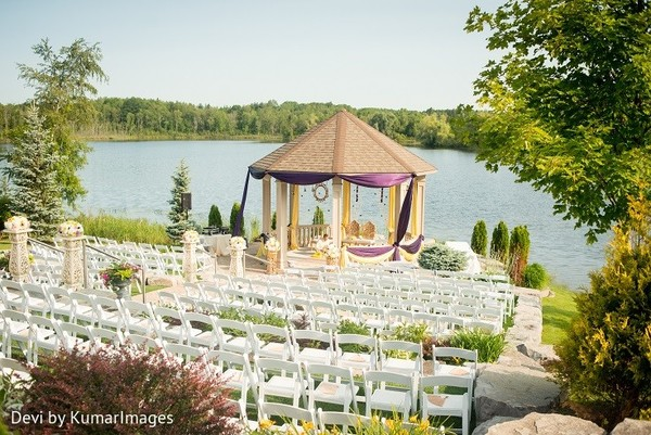 Venue in Ontario, Canada Hindu-Sikh Fusion Wedding by Devi by KumarImages
