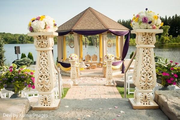 Unforgettable Garden Wedding Decor: Ontario, Canada Hindu-Sikh Fusion Wedding By Devi By