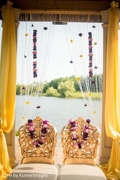 Ceremony decor in Ontario, Canada Hindu-Sikh Fusion Wedding by Devi by KumarImages