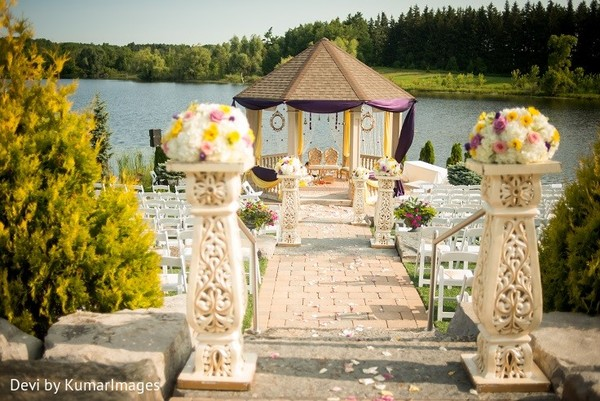 Outdoor wedding in Ontario, Canada Hindu-Sikh Fusion Wedding by Devi by KumarImages