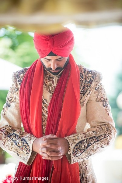 Ceremony in Ontario, Canada Hindu-Sikh Fusion Wedding by Devi by KumarImages
