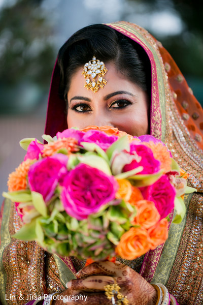 Bridal Portrait in Los Angeles, CA Sikh Wedding by Lin & Jirsa Photography