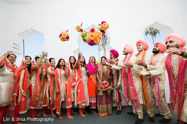Wedding Party in Los Angeles, CA Sikh Wedding by Lin & Jirsa Photography