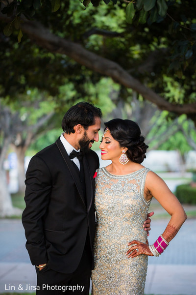 Reception Portrait in Los Angeles, CA Sikh Wedding by Lin & Jirsa Photography