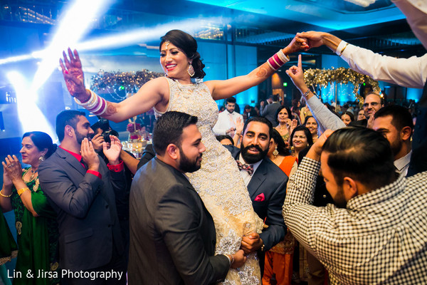 Reception in Los Angeles, CA Sikh Wedding by Lin & Jirsa Photography