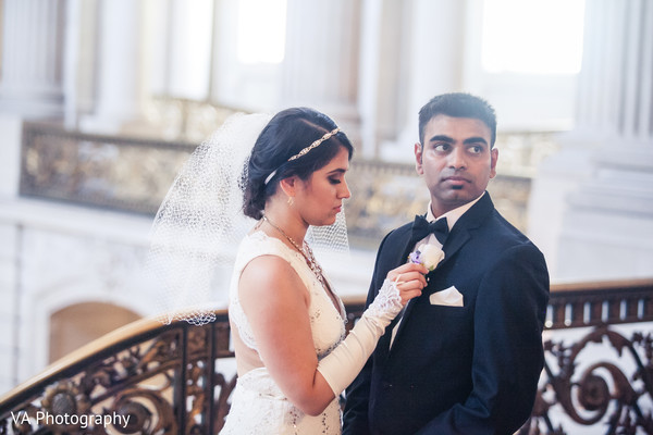 Indian wedding portrait in San Francisco, CA Indian Wedding by VA Photography