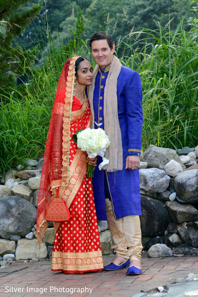 Wedding Portrait in Almonesson, NJ South Asian Fusion Wedding by Silver Image Photography