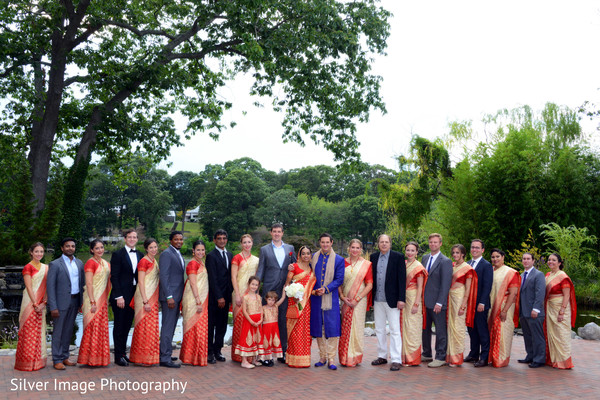 Wedding Party in Almonesson, NJ South Asian Fusion Wedding by Silver Image Photography