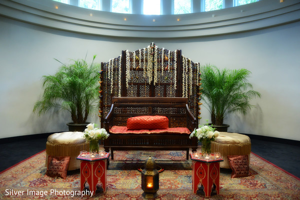 Ceremony Decor in Almonesson, NJ South Asian Fusion Wedding by Silver Image Photography