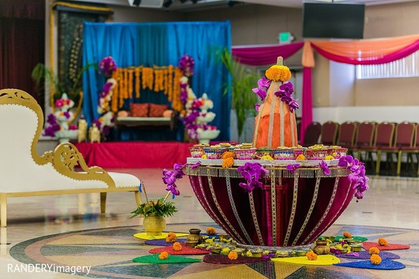 Garba Decor in Long Beach, CA Indian Wedding by RANDERYimagery