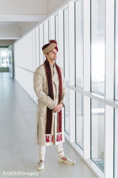 Groom Fashion in Long Beach, CA Indian Wedding by RANDERYimagery