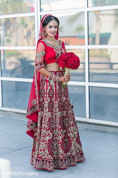 Bridal Fashion in Long Beach, CA Indian Wedding by RANDERYimagery