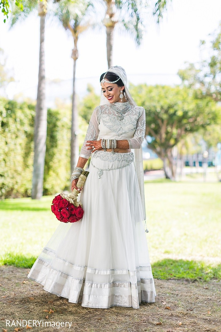 Bridal Portrait In Long Beach CA Indian Wedding By RANDERYimagery - White Indian Wedding Dress