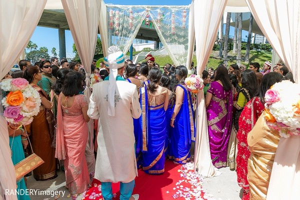 Baraat in Long Beach, CA Indian Wedding by RANDERYimagery