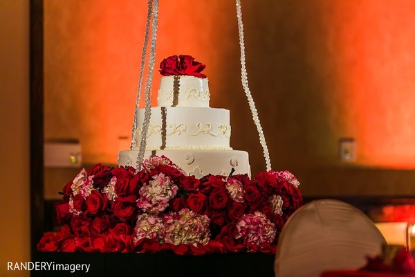 Wedding Cake in Long Beach, CA Indian Wedding by RANDERYimagery