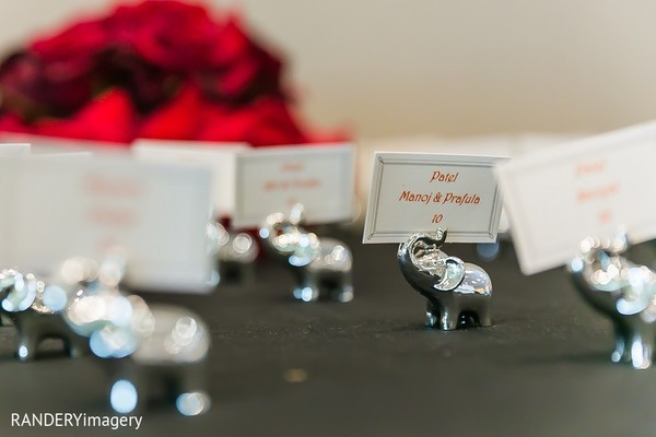 Place Cards & Holders in Long Beach, CA Indian Wedding by RANDERYimagery