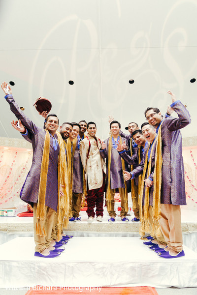 Groomsmen in Fort Worth, TX Indian Wedding by William Bichara Photography