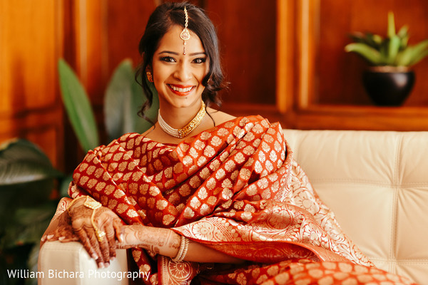 Bridal Portrait in Fort Worth, TX Indian Wedding by William Bichara Photography