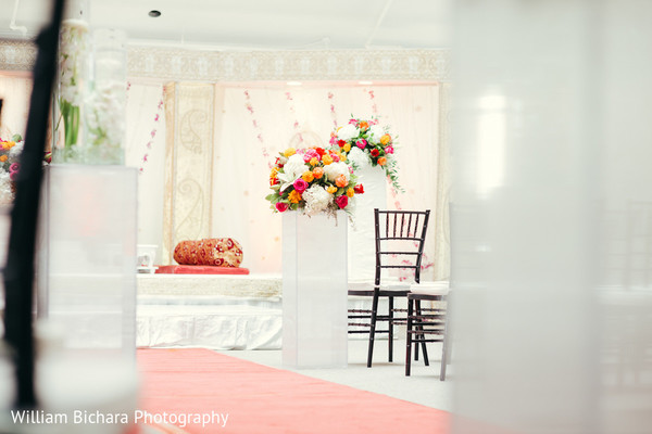 Ceremony Decor in Fort Worth, TX Indian Wedding by William Bichara Photography