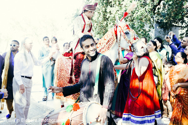 Baraat in Fort Worth, TX Indian Wedding by William Bichara Photography