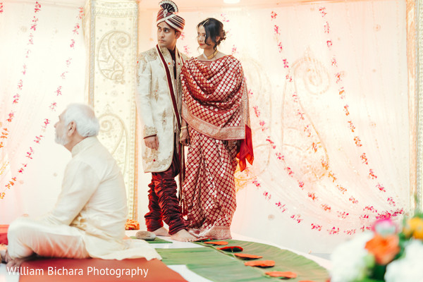 Ceremony in Fort Worth, TX Indian Wedding by William Bichara Photography