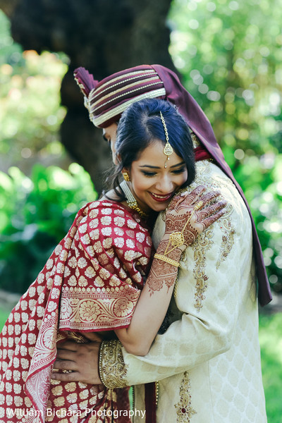 First Look in Fort Worth, TX Indian Wedding by William Bichara Photography