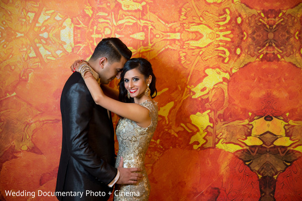 Reception portrait in Costa Mesa, CA Indian Wedding by Wedding Documentary