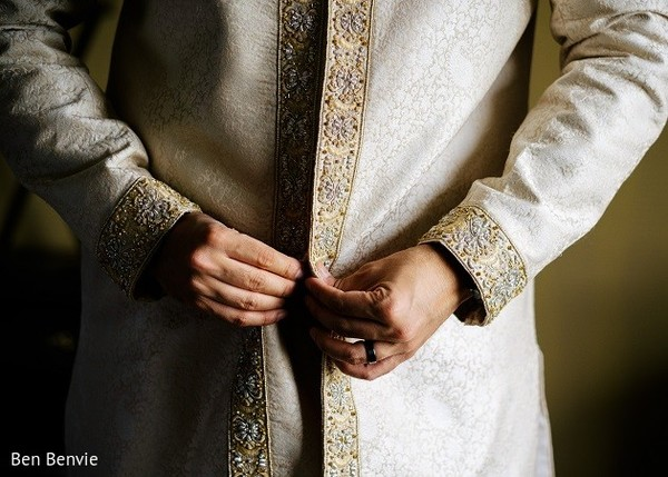 Groom Getting Ready in Ontario, Canada Pakistani Fusion Wedding by Ben Benvie