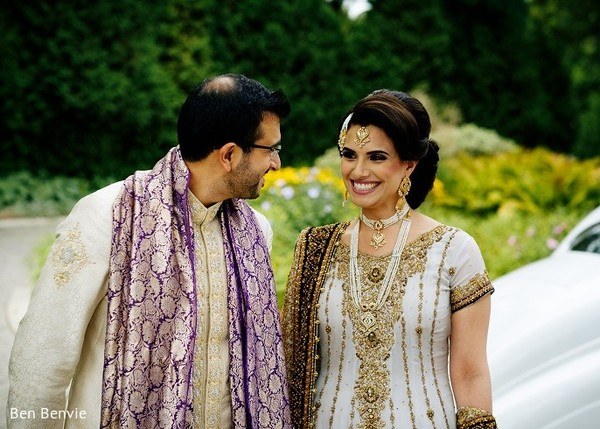 First Look in Ontario, Canada Pakistani Fusion Wedding by Ben Benvie