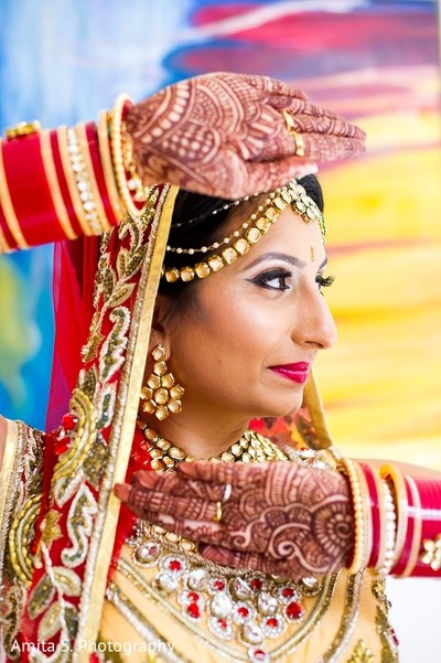Bridal Portrait in Orlando, FL Indian Wedding by Amita S. Photography