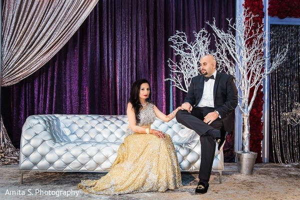Reception Portrait in Orlando, FL Indian Wedding by Amita S. Photography