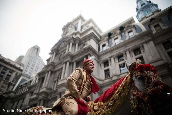 Baraat in Philadelphia, PA Indian Fusion Wedding by Studio Nine Photography