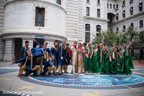 Wedding party in Philadelphia, PA Indian Fusion Wedding by Studio Nine Photography
