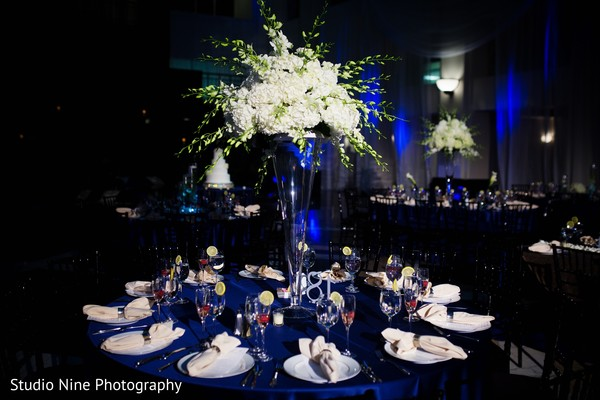 Centerpieces for wedding in Philadelphia, PA Indian Fusion Wedding by Studio Nine Photography