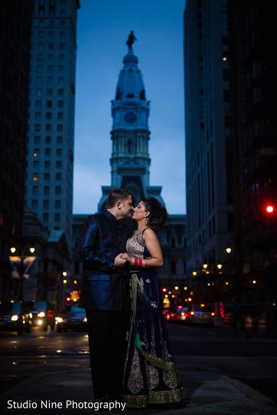 Reception portrait in Philadelphia, PA Indian Fusion Wedding by Studio Nine Photography