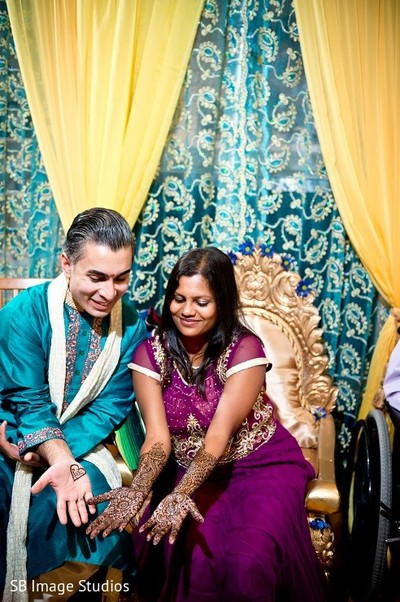 Mehndi Ceremony in Galveston, TX Indian Wedding by SB Image Studios