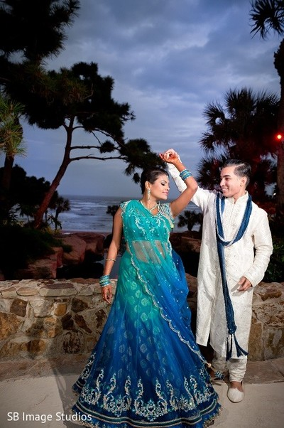 Pre-Wedding Portrait in Galveston, TX Indian Wedding by SB Image Studios