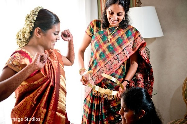 Getting Ready in Galveston, TX Indian Wedding by SB Image Studios