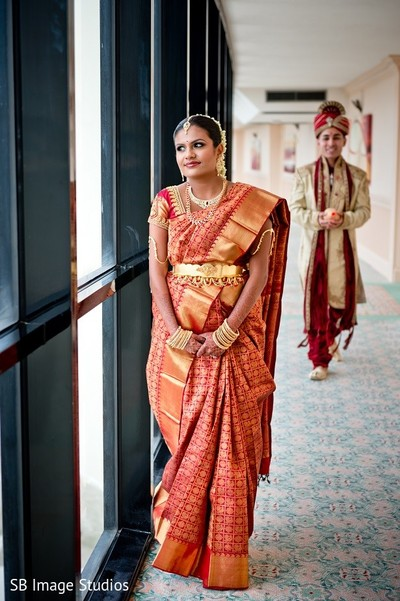 First Look in Galveston, TX Indian Wedding by SB Image Studios