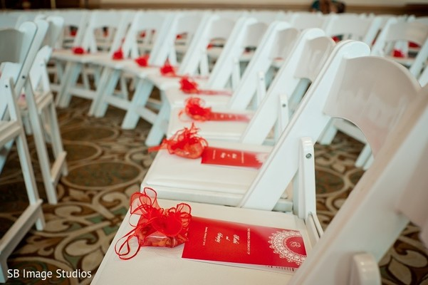 Programs & Favors in Galveston, TX Indian Wedding by SB Image Studios