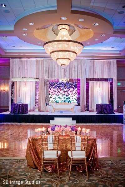 Floral & Decor in Galveston, TX Indian Wedding by SB Image Studios