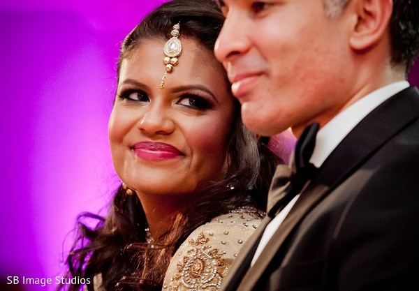 Reception in Galveston, TX Indian Wedding by SB Image Studios