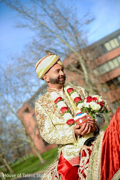 Baraat in Princeton, NJ Indian Wedding by House of Talent Studio