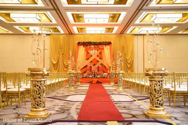 Ceremony venue in Princeton, NJ Indian Wedding by House of Talent Studio