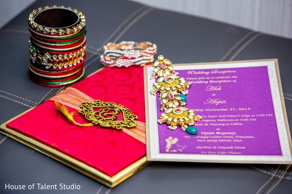 Wedding invitations in Princeton, NJ Indian Wedding by House of Talent Studio