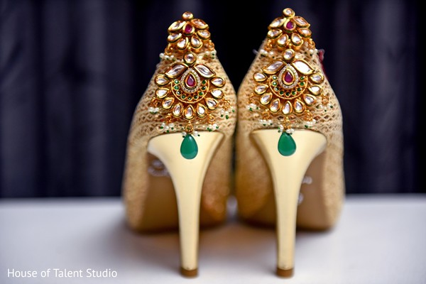 Bridal heels in Princeton, NJ Indian Wedding by House of Talent Studio