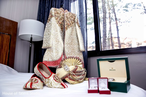Indian groom fasion in Princeton, NJ Indian Wedding by House of Talent Studio